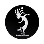 Kokopelli Inline Skater Ornament (Round)
