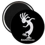 Kokopelli Inline Skater Magnet