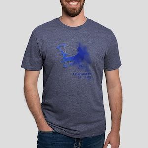 bowhunter cracks Mens Tri-blend T-Shirt