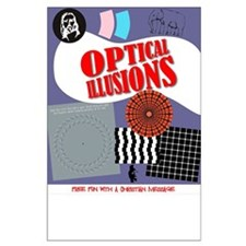 Optical Illusions Large Poster (you trim bottom)