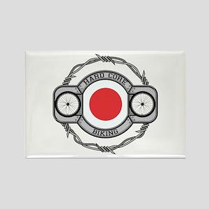 Japan Biking Rectangle Magnet