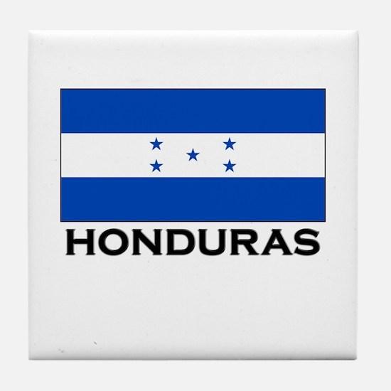 Honduras Flag Merchandise Tile Coaster