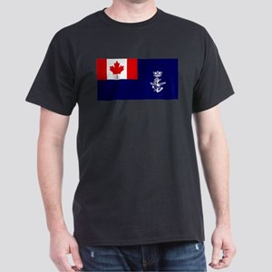 Flag - Naval Auxiliary Jack of Canada Dark T-Shirt