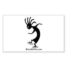 Kokopelli Inline Skater Rectangle Sticker
