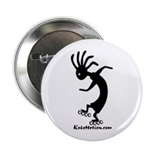 Kokopelli Inline Skater Button