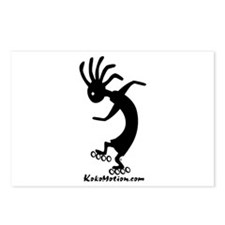 Kokopelli Inline Skater Postcards (Package of 8)
