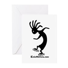 Kokopelli Inline Skater Greeting Cards (Package of