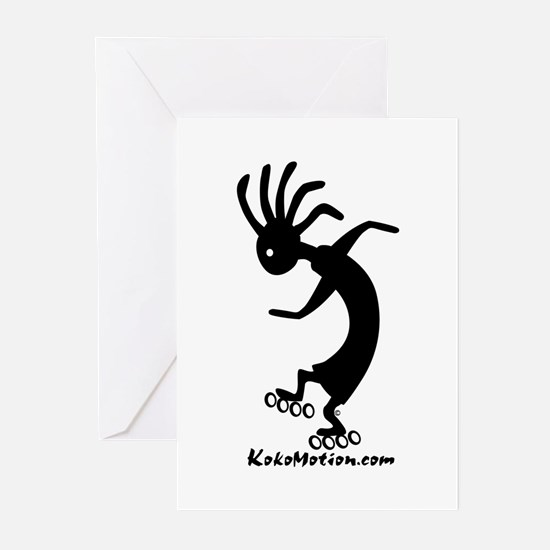 Kokopelli Inline Skater Greeting Cards (Package of