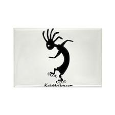Kokopelli Inline Skater Rectangle Magnet (100 pack