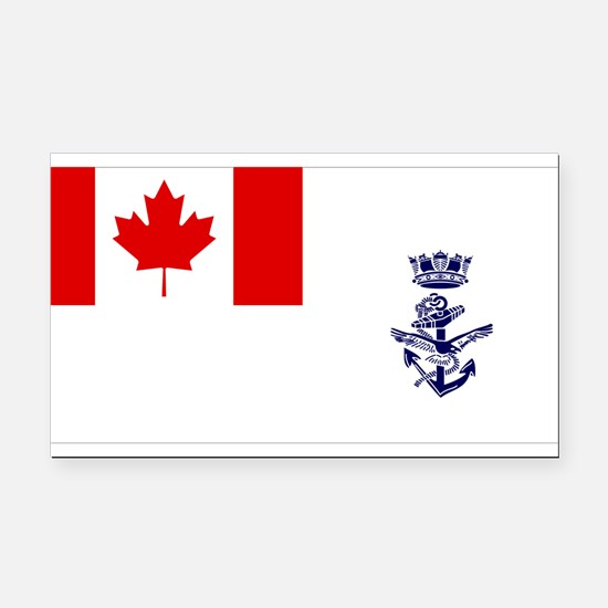 Naval Jack of Canada Rectangle Car Magnet