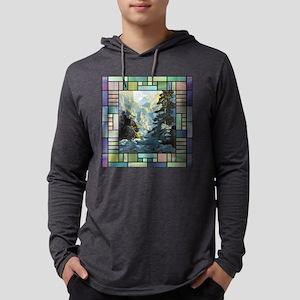 Transportationtile Mens Hooded Shirt