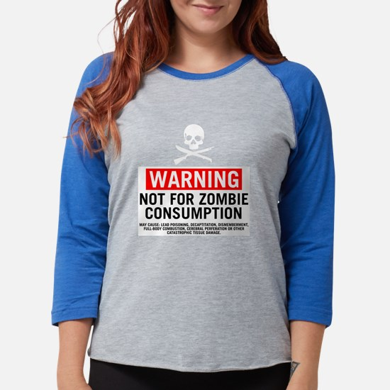 ZombieConsumptionWhtBG.png Womens Baseball Tee