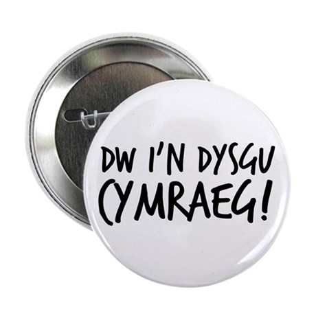 """Im learning Welsh 2.25"""" Button (10 pack)"""