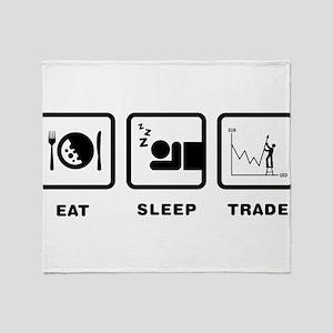 Forex / Stock Trader Throw Blanket