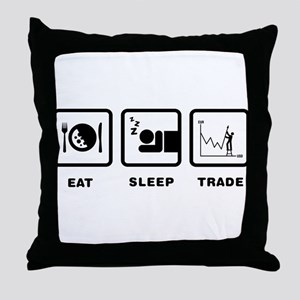 Forex / Stock Trader Throw Pillow