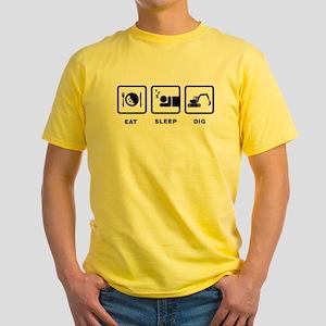 Excavating Yellow T-Shirt