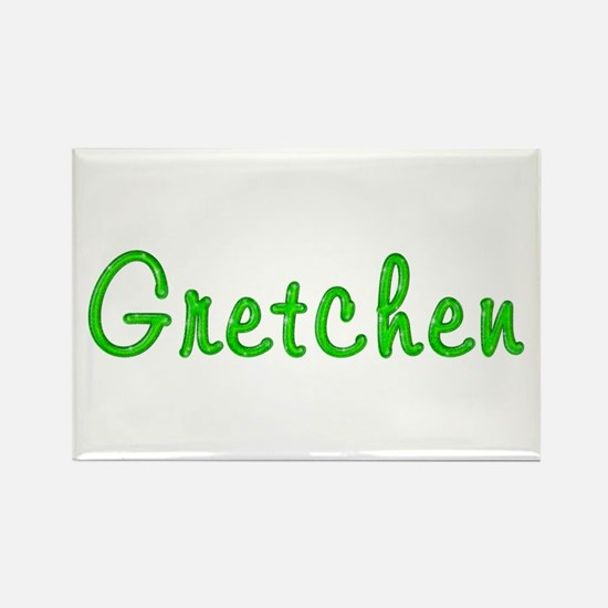 Gretchen Glitter Gel Rectangle Magnet