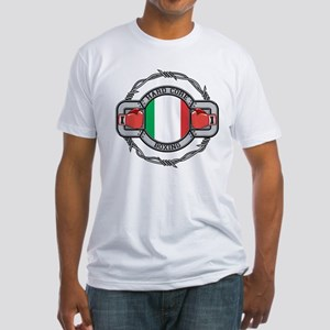 Italy Boxing Fitted T-Shirt