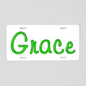 Grace Glitter Gel Aluminum License Plate