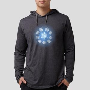 Snowflakes Mens Hooded Shirt