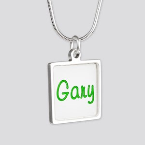 Gary Glitter Gel Silver Square Necklace