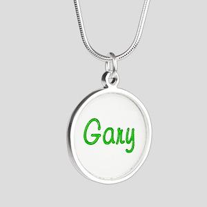 Gary Glitter Gel Silver Round Necklace