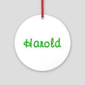 Harold Glitter Gel Round Ornament
