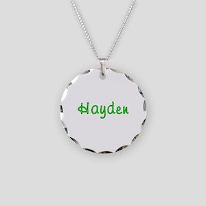 Hayden Glitter Gel Necklace Circle Charm