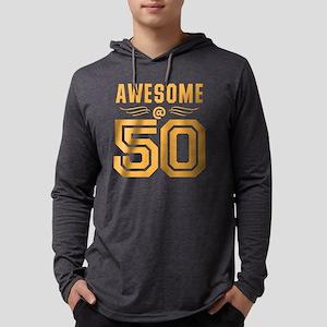 AWESOME at 50 Mens Hooded Shirt