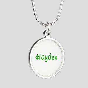 Hayden Glitter Gel Silver Round Necklace