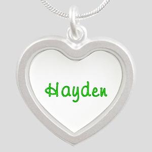 Hayden Glitter Gel Silver Heart Necklace