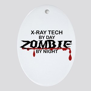 X-Ray Tech Zombie Ornament (Oval)