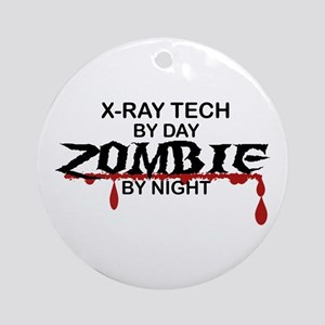 X-Ray Tech Zombie Ornament (Round)