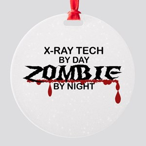 X-Ray Tech Zombie Round Ornament