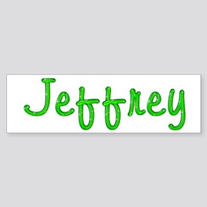 Jeffrey Glitter Gel Bumper Sticker