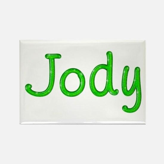 Jody Glitter Gel Rectangle Magnet