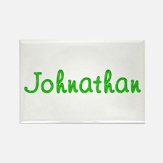 Johnathan Glitter Gel Rectangle Magnet