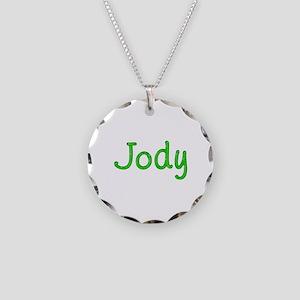 Jody Glitter Gel Necklace Circle Charm