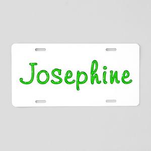 Josephine Glitter Gel Aluminum License Plate