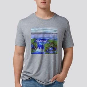 waterfall Mens Tri-blend T-Shirt