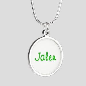 Jalen Glitter Gel Silver Round Necklace