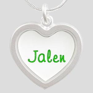 Jalen Glitter Gel Silver Heart Necklace