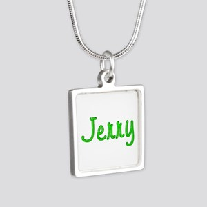 Jerry Glitter Gel Silver Square Necklace