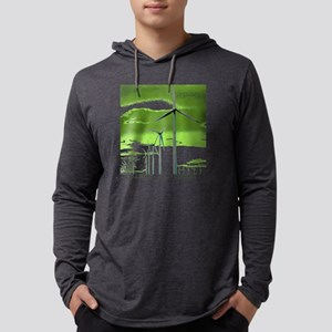 Plant a Windmill Mens Hooded Shirt