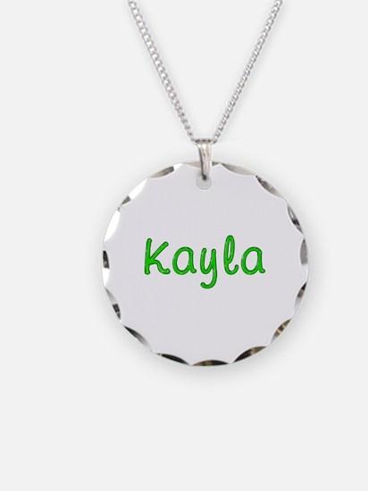 Kayla Glitter Gel Necklace