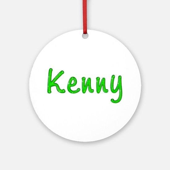 Kenny Glitter Gel Round Ornament