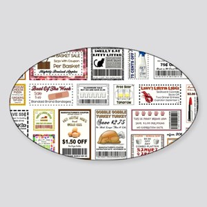 COOL COUPONS Sticker (Oval)