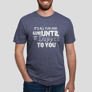 fun and game design Mens Tri-blend T-Shirt