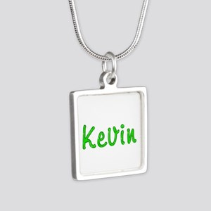 Kevin Glitter Gel Silver Square Necklace