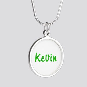 Kevin Glitter Gel Silver Round Necklace
